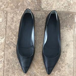 "MIA ""Hepburn"" black pointed toe flats"